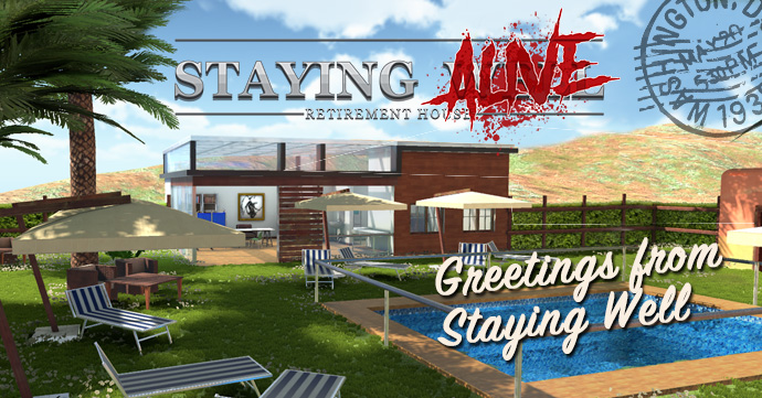 Staying Alive - postcard