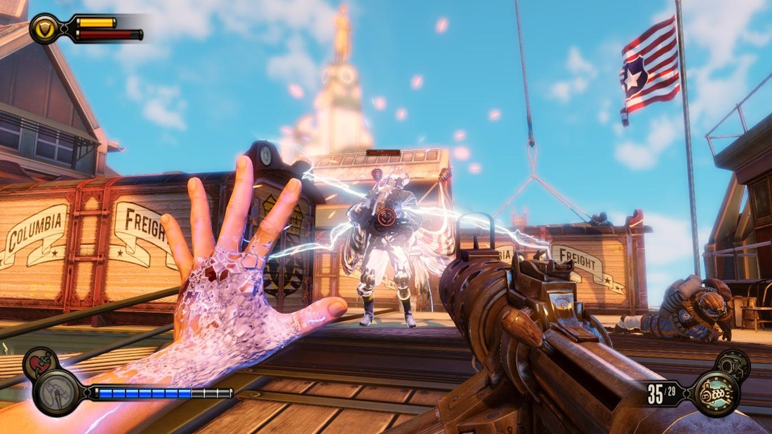 Bioshock Infinite: vigor and weapons, a deadly combination