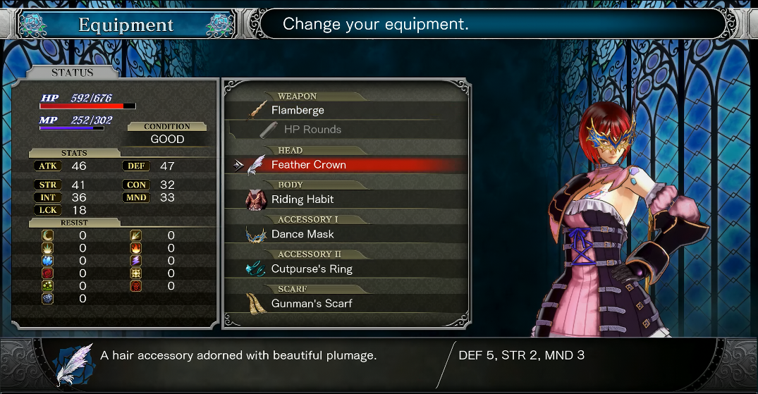 Character Creator in Bloodstained