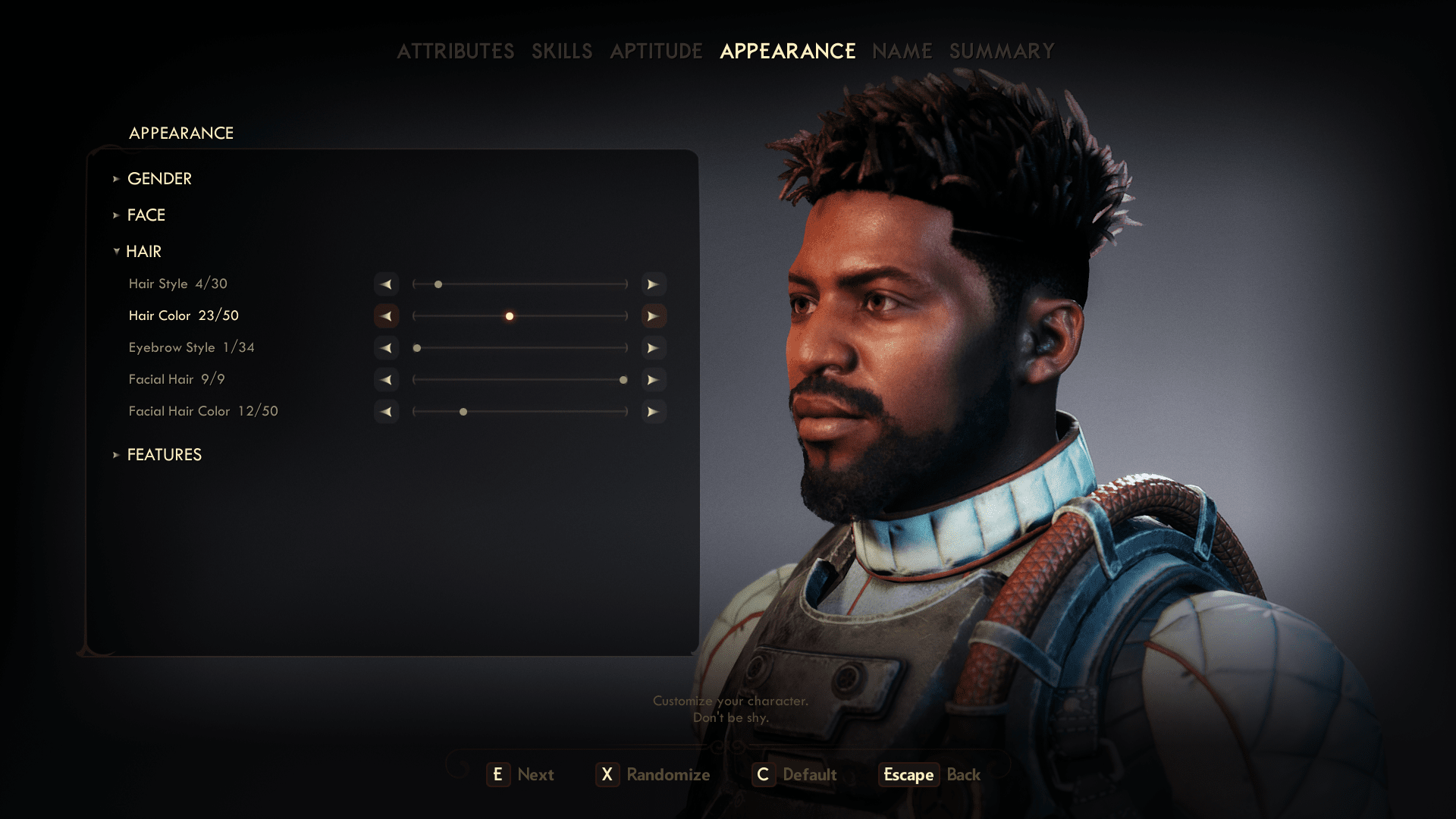 You can customize your character in The Outer Worlds