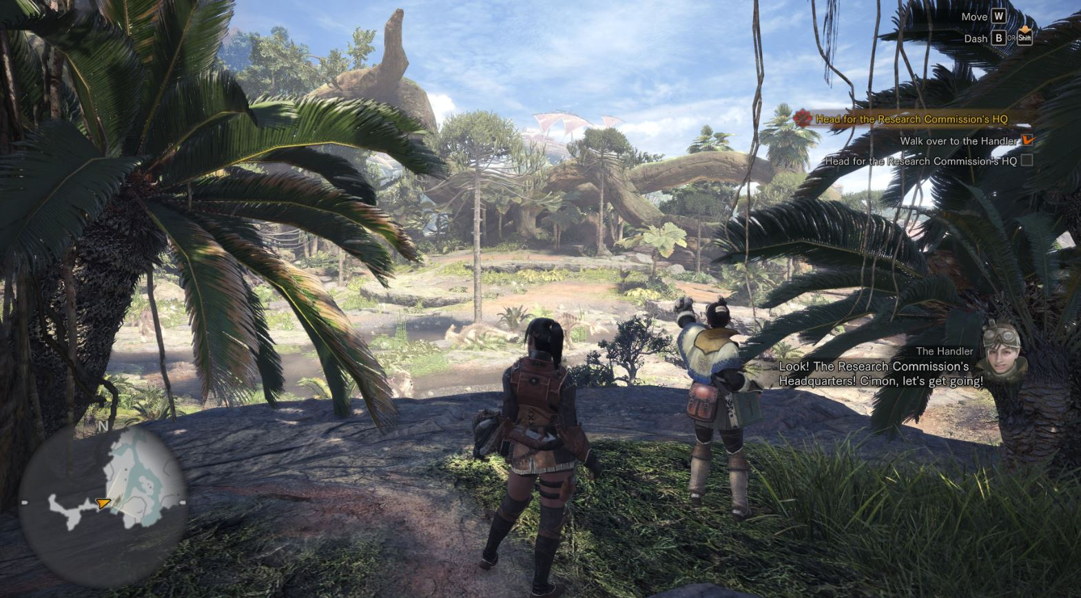 Monster Hunter World: A map to explore