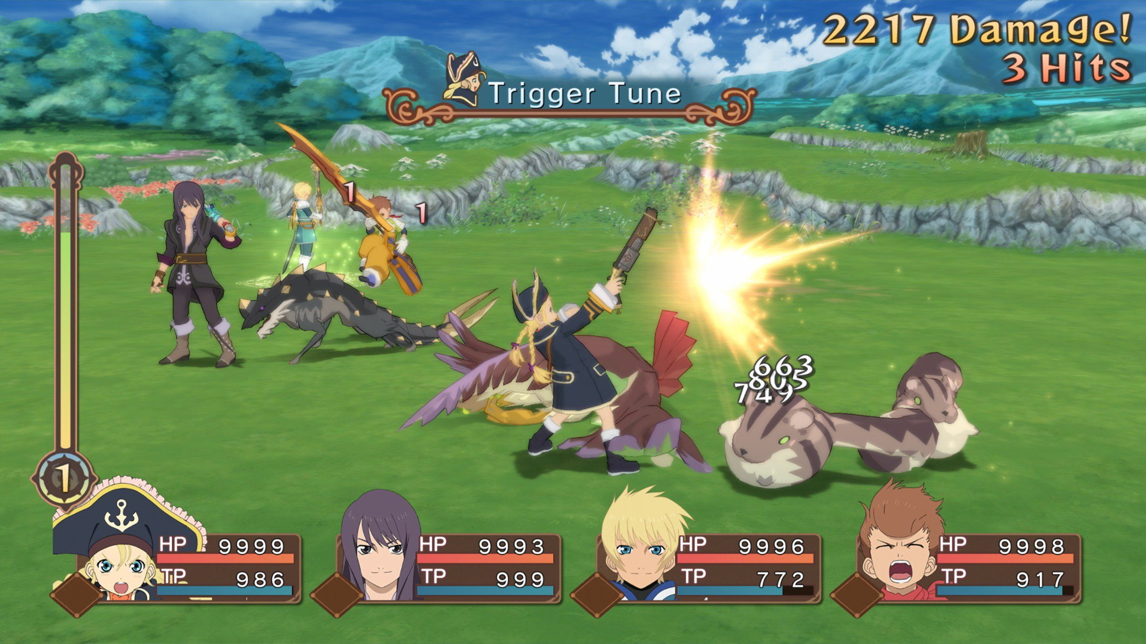 The gameplay of Bandai Namco Game