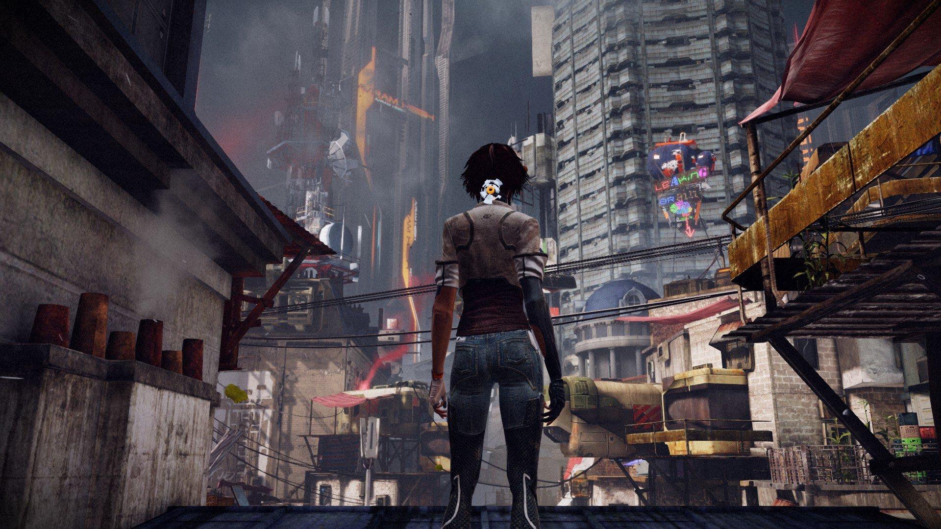 The slums of Neo-Paris