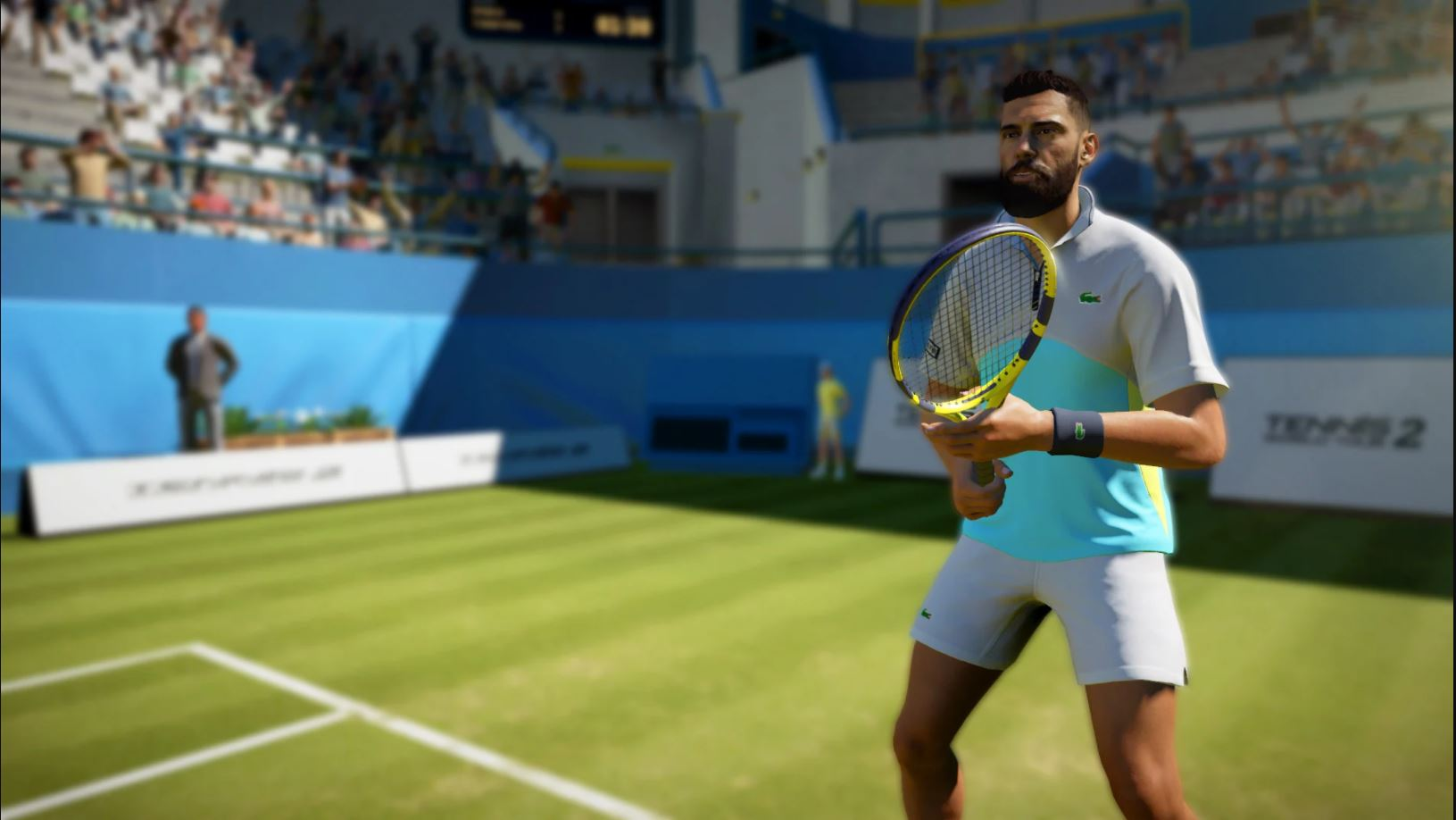 Tennis player Benoit Paire in game